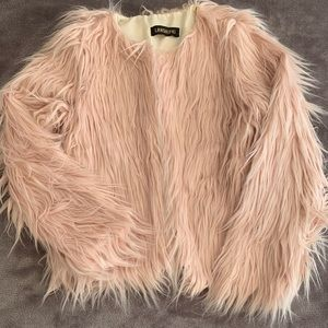 🌷Lanshifei Blush Shaggy Faux Fur Jacket🌷